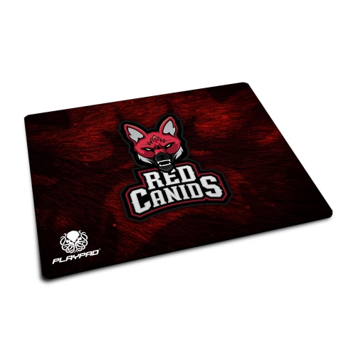 MOUSE PAD GAMER PLAYPAD PROMINI - RED CANIDS LOBO GUARÁ