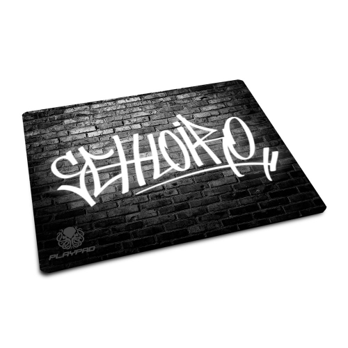 Mousepad Gamer Seh Loiro! - Black Wall - [Mini]