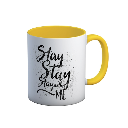 Caneca Stay with me - Amarela