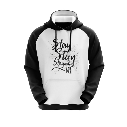 Moletom Stay With Me - Preto/Branco - Unissex