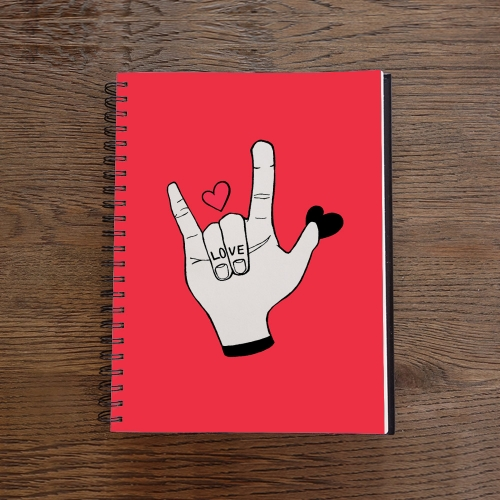 Caderno Love Fingers