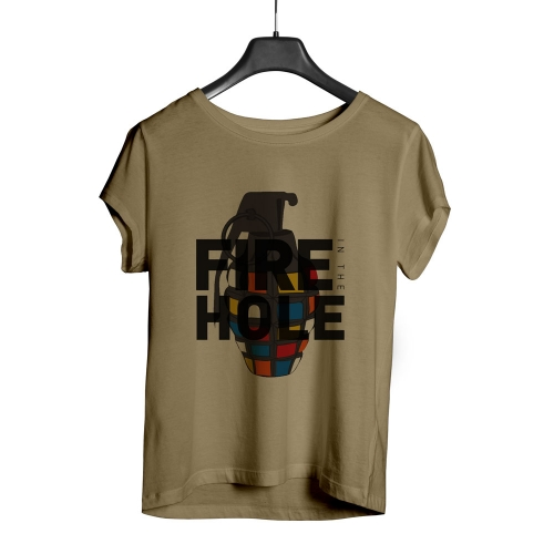 Camiseta Playpad Fire in the hole - Areia