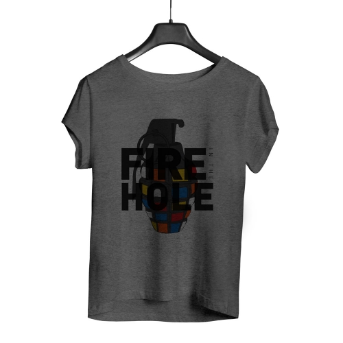 Camiseta Playpad Fire in the hole - Mescla