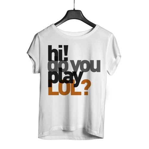 Camiseta Playpad Do you play Lol? - Branca