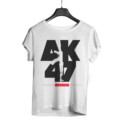 Camiseta Playpad AK47 - Branca