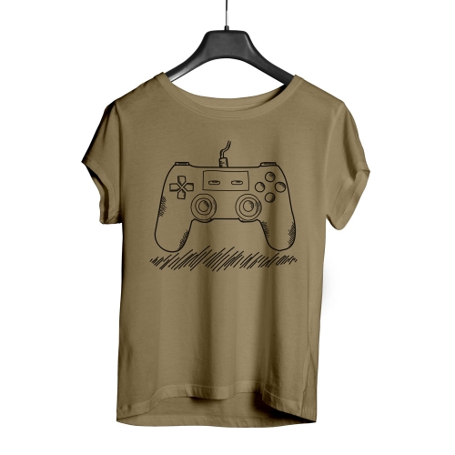 Camiseta Playpad Ps Controller - Areia