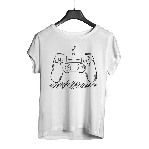 Camiseta Playpad Ps Controller - Branca