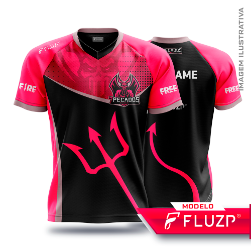 Uniforme 7 Pecados E-Sports - Black Girls