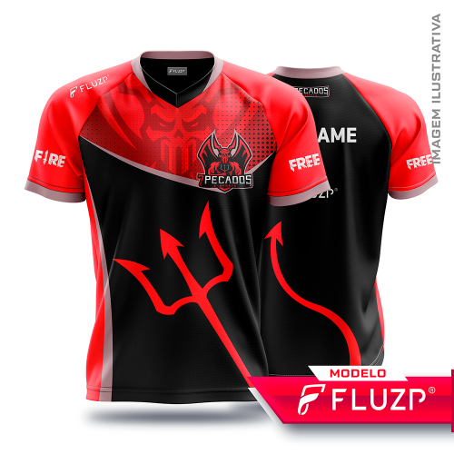 Uniforme 7 Pecados E-Sports - Black