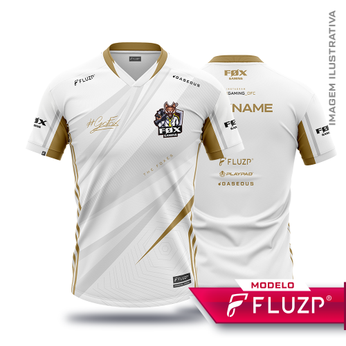 Uniforme Fox Gaming Branca